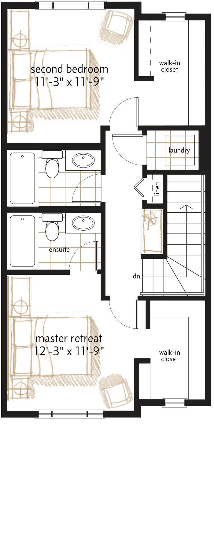 UPPER LEVEL  |  636 SQ. FT.