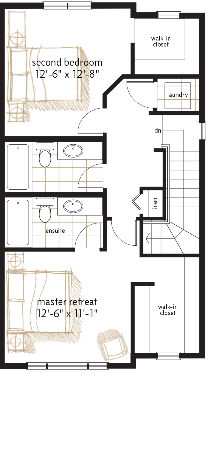 UPPER LEVEL  |  711 SQ. FT.