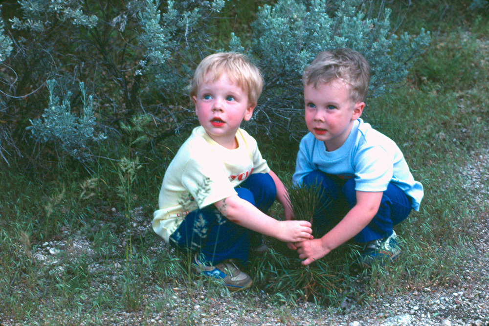 Where it all began...Jeremy and Matthew started their planting early on!