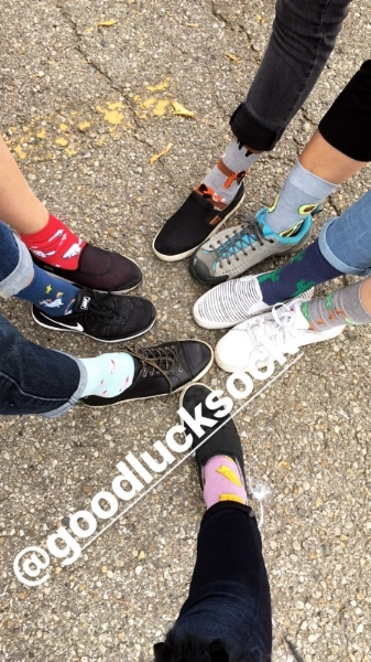 Thank you Good Luck Sock - for donating printed socks for us to wear. We all had a blast strutting around in them during the parade.Fun avocados, flamingos, unicorns and more on our feet!Watch for this fabulous new brand coming soon to Harlow. They make a great gift!