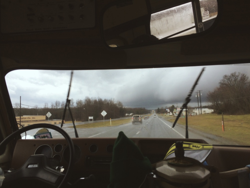 2.24.16 - Before the storm. - En route to Carrboro, North Carolina.