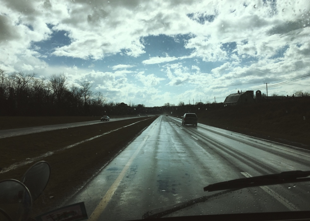 2.24.16 - After the storm. - En route to Carrboro.