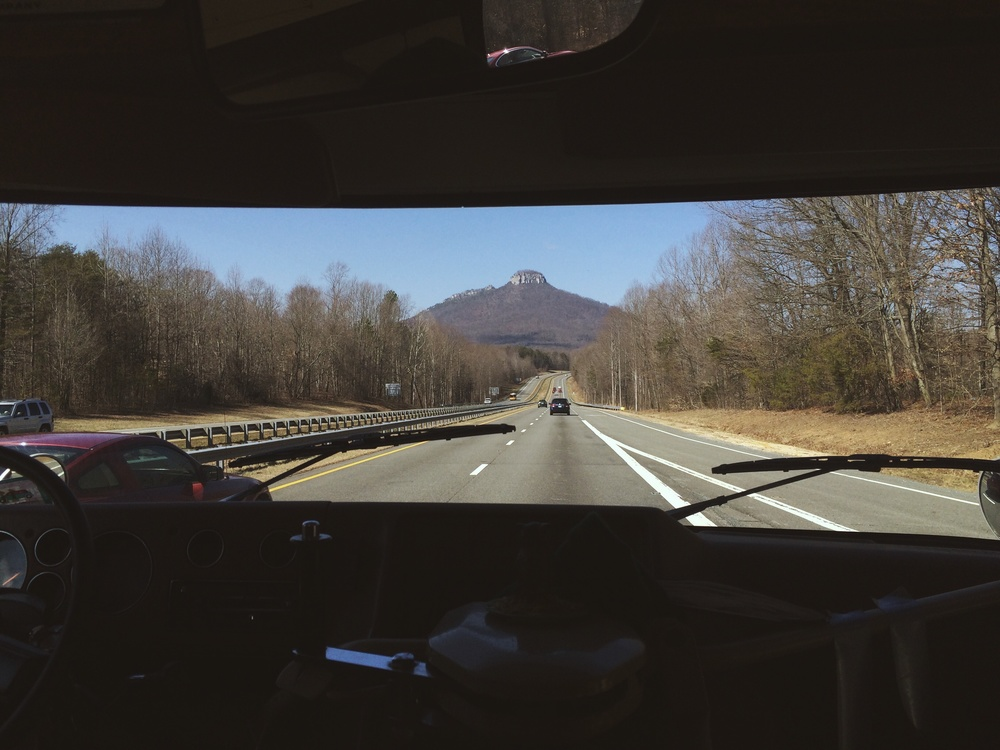 "2.27.16 - ""I wonder how we get up there?"" - Pilot Mountain, North Carolina"