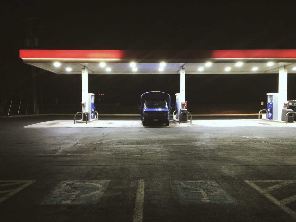 2.28.16 - Late night gas en route to New Jersey. - Virginia