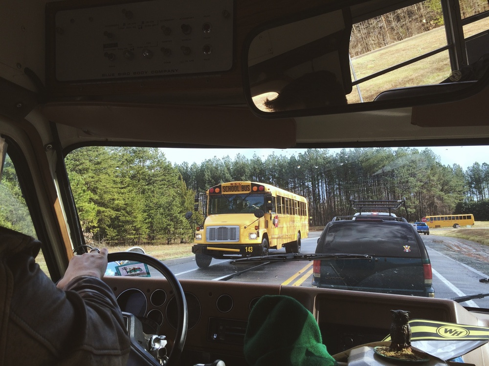 2.24.16 - Running into friends. - En route to Carrboro, North Carolina.
