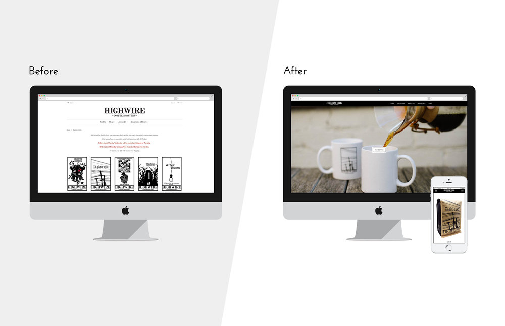 Highwire Coffee Roasters Site Redesign