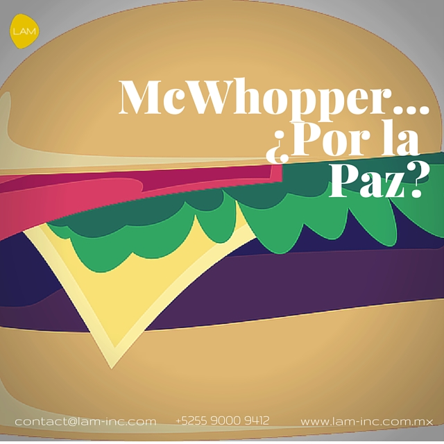 McWhopper...¿Por la paz?