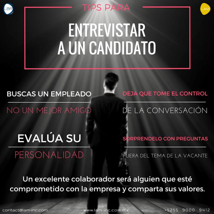 Tips para Entrevistar a un Candidato