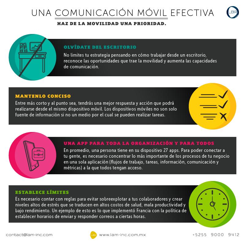 Para tener una comunicación móvil efectiva: