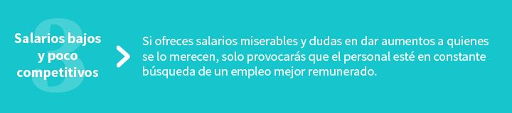25% de los empleados dejarían su empleo por un 10% de aumento a su salario. (Fuente: TinyPulse)