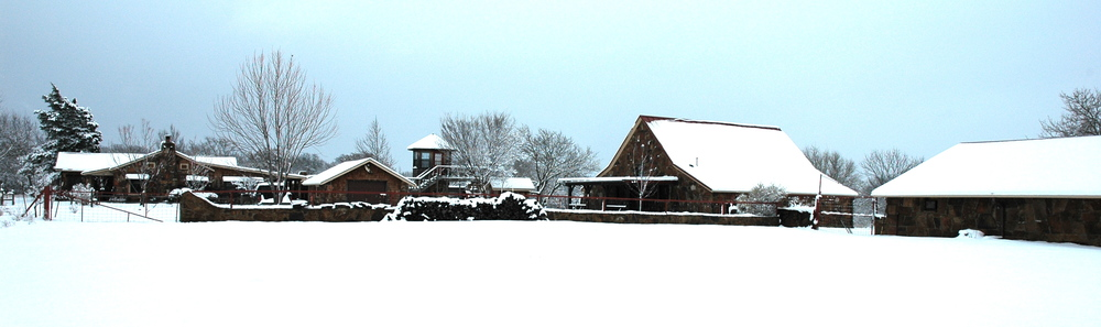 Hundred Monkey Ranch & Studio in Winter