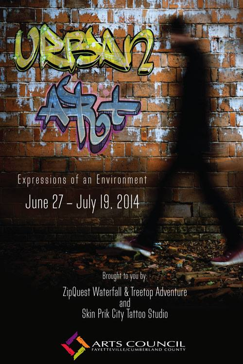 Urban Art: Expressions of an Environment at The Arts Council of Fayetteville/Cumberland County, NC - Invitational June 27 - July 19, 2014