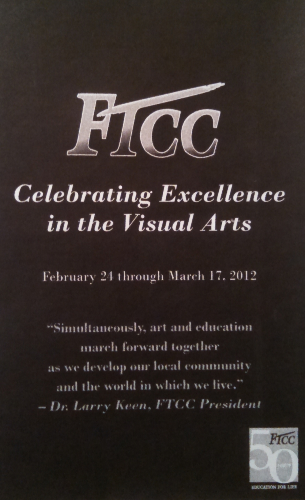 FTCC Celebrating Excellence in the Visual Arts, Juried Show, February 24 - March 17, 2012, 3rd Place