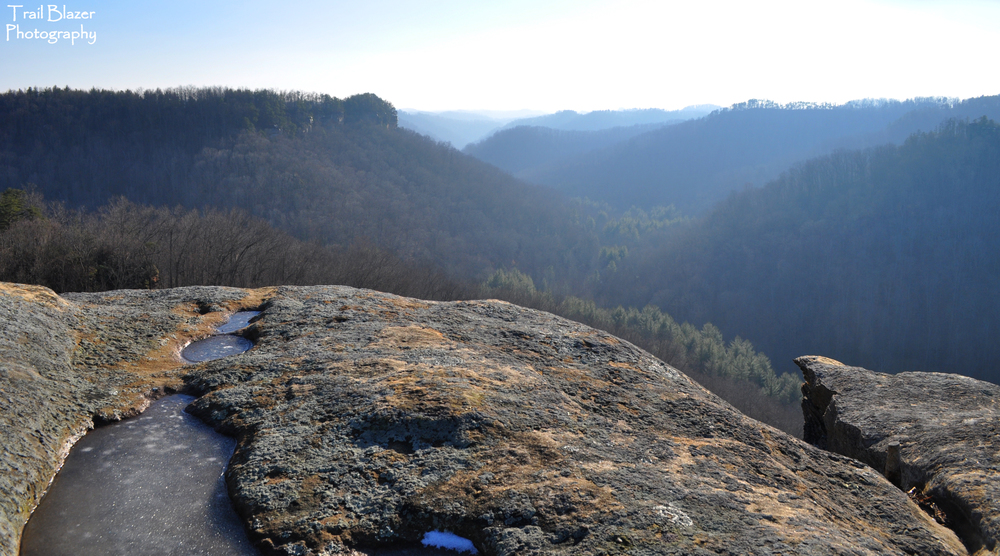 View of the valley along Spaas Creek, seen from Blackburn Rock.