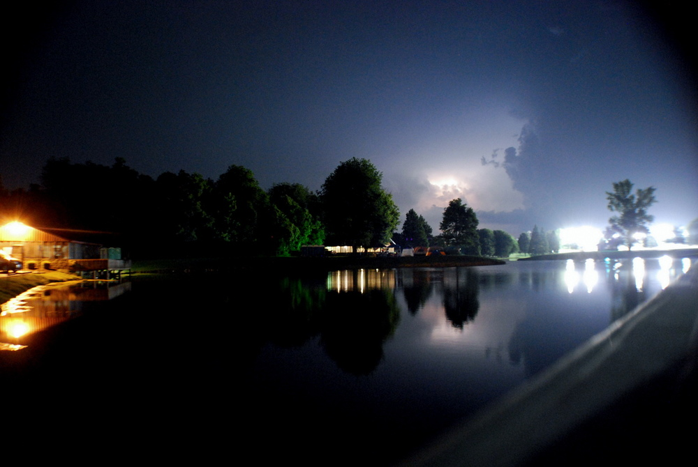 Lightning approaching Owensboro at ROMP on Thursday, June 25th.
