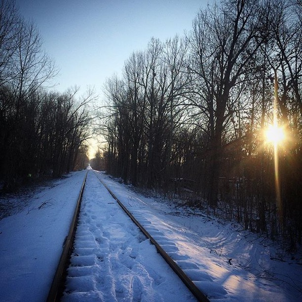 """L ook down that cold lonesome track""  McCracken County, Kentucky  Photo via Instagrammer  @nathanblakelynn"