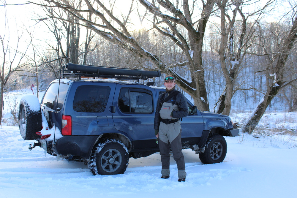 Caleb with his Xterra. - Photo by: Ellen Linder