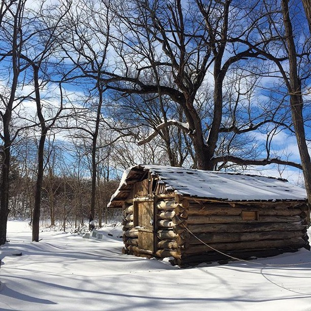 """ Cabin in the Snow❄️❄️❄️ "" McConnell Springs Park, Lexington  Photo via Instagrammer  @caroline_mae89"