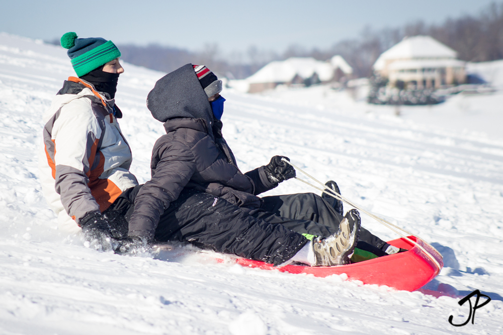Sledding at  Levi Jackson State Park .  Photo via EKI Board Member/ Professional MTB Cyclist  Josh Patton