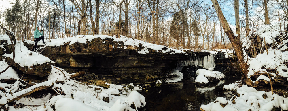 Hiking upstream of Jefferson Memorial Forest's Fairmount Falls Louisville, Kentucky  Photo via EKI Director  @GerrySeavo