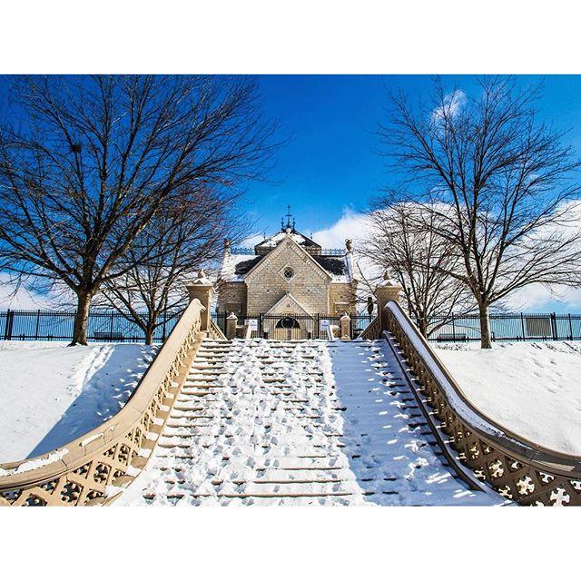 Snowed in Crescent Hill Water Reservoir. Louisville, Kentucky Photo via Insatgrammer @lifeinlouisville