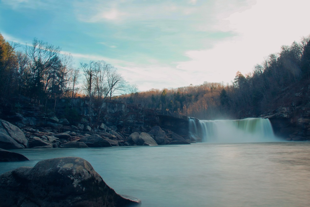 Cumberland Falls at full force. - Michael Cheser @Michael_NaturalVisions