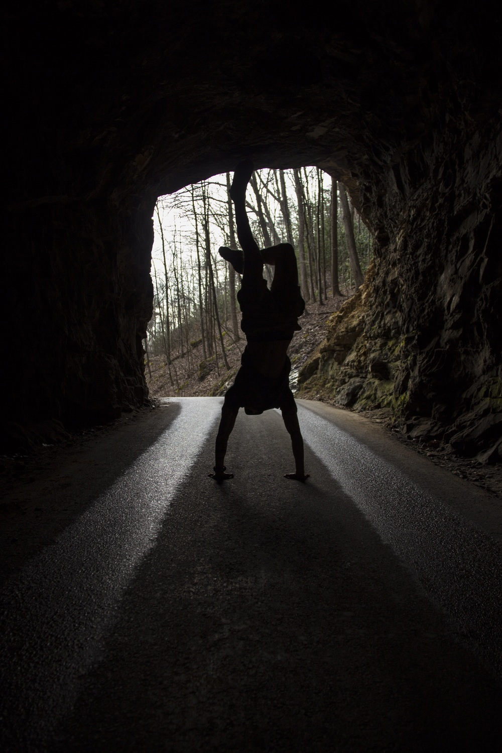 Handstands in Nada Tunnel.