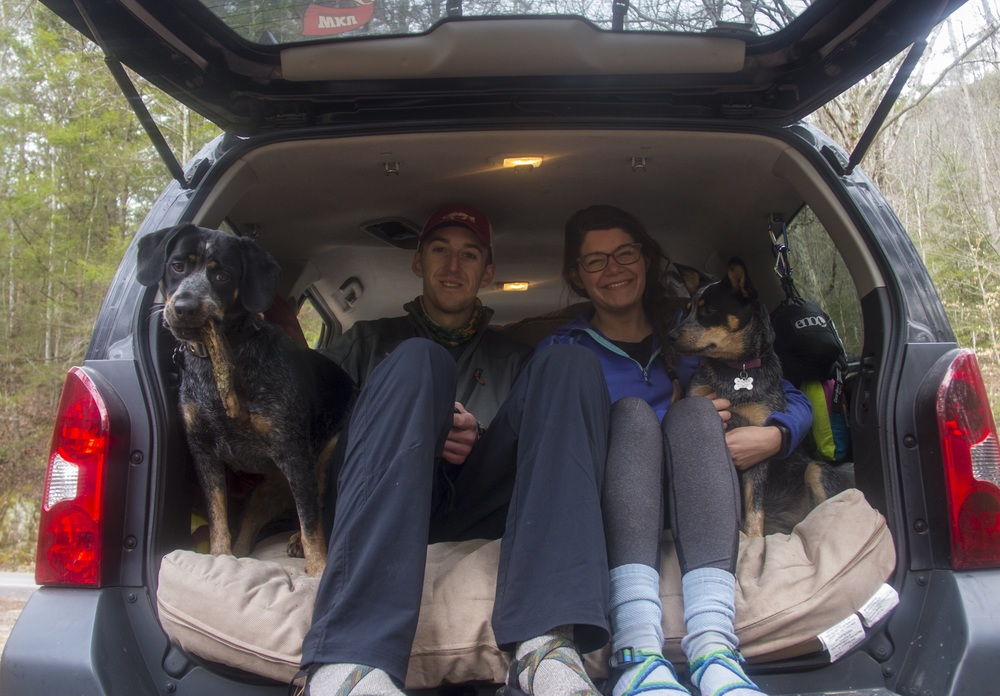 Family photos in the Xterra.