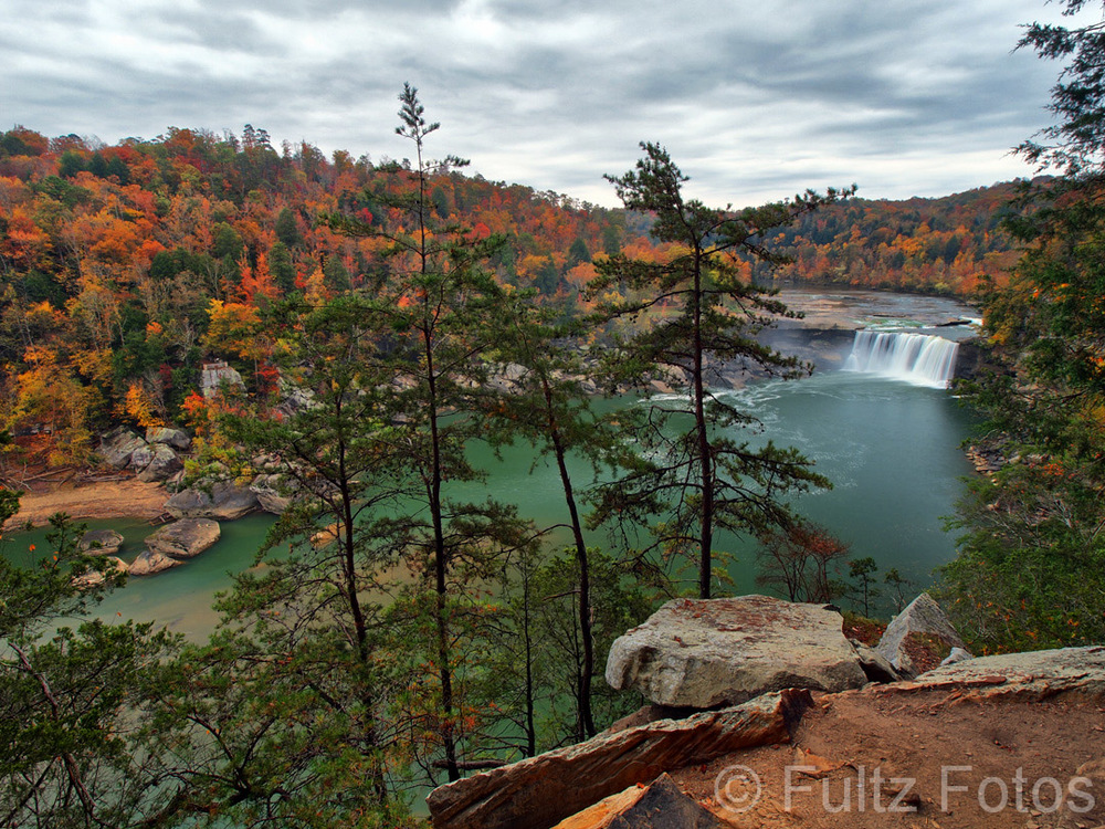The View Of Cumberland Falls From the Eagle Falls Trail by Bill Fultz