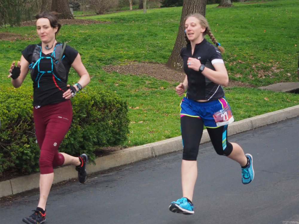 Run Stage - Trying to stay ahead of Meghan - Photo by Jake McConnell