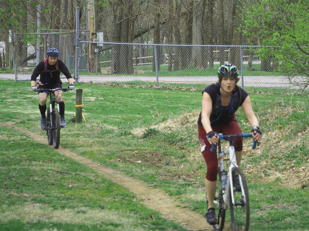 Tacking the Mountain Bike Stage on my Cyclocross Bike - Photo by Jake McConnell