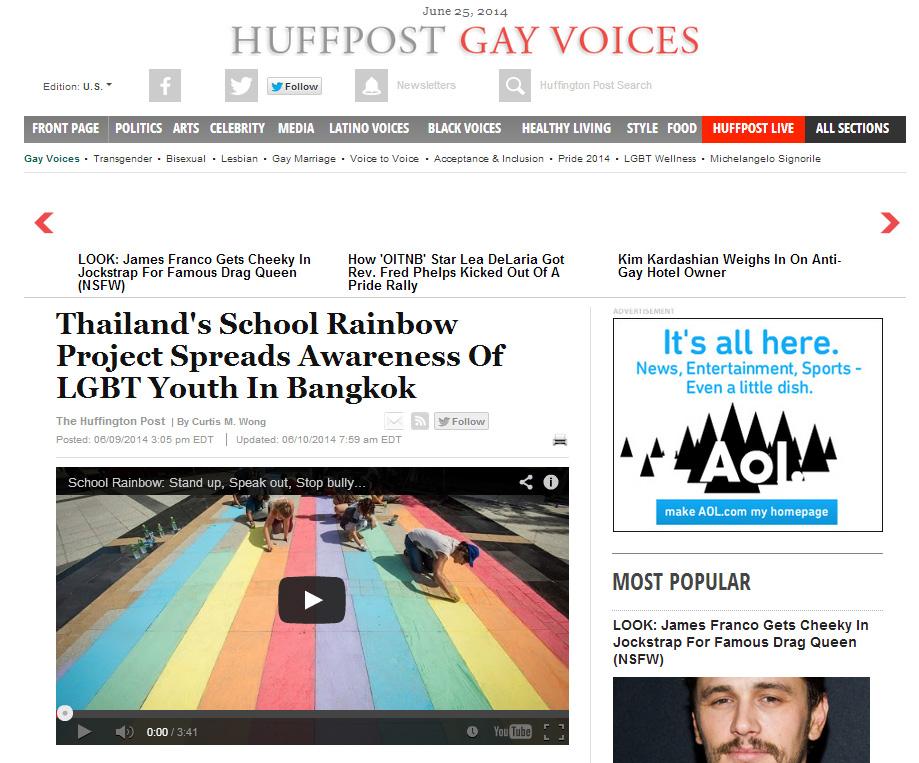 School Rainbow on Huffington Post