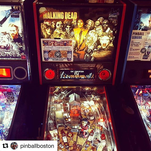 #Repost @pinballboston ・・・ Come celebrate Michael Jackson's 59th Birthday this Tuesday at @flattopjohnnys High Score & Pinball Golf Tournament from 5 - 9pm