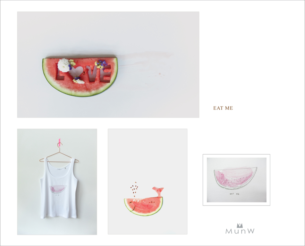 MunW lookbook: Watermelon t-shirt. Available at www.munw.es.