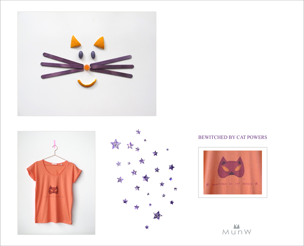 MunW lookbook: Catpowers t-shirt. Available at www.munw.es.