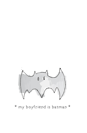 "| ""My boyfriend is Batman"" illustration, for a MunW product (t-shirts, bags, sweaters, etc). Available at www.munw.es. 