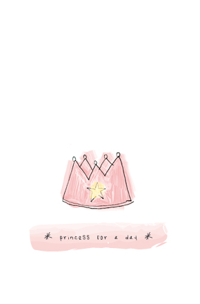 "| ""Princess for a day"" illustration, for a MunW product (t-shirts, bags, sweaters, etc). Available at www.munw.es. 
