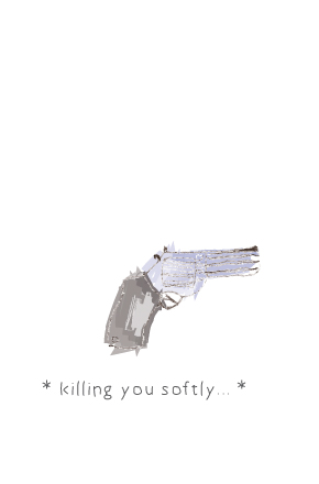 "| ""Killing you solftly"" illustration, for a MunW product (t-shirts, bags, sweaters, etc). Available at www.munw.es. 