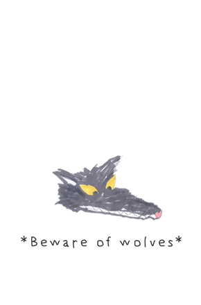 "| ""Beware of wolves"" illustration, for a MunW product (t-shirts, bags, sweaters, etc). Available at www.munw.es. 