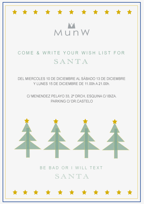 | MunW Christmas pop up invitation. More info on www.munw.es. |