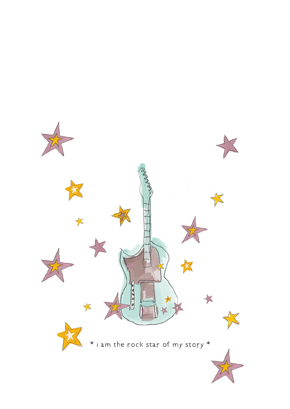 "| ""I am the rock star of my story"" illustration, for a MunW product (t-shirts, bags, sweaters, etc). Available at www.munw.es. 