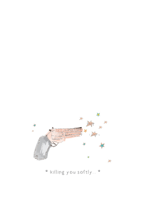 "| ""Killing you softly"" illustration, for a MunW product (t-shirts, bags, sweaters, etc). Available at www.munw.es. 