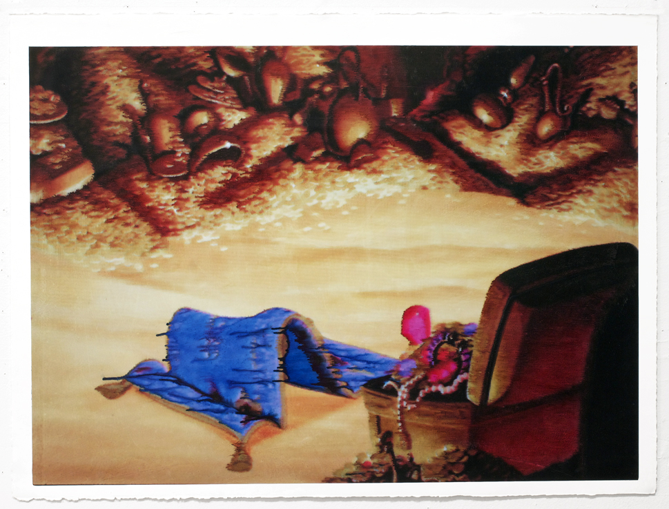 Carpet, 2012 Acrylic and inkjet on paper 22 x 30 inches