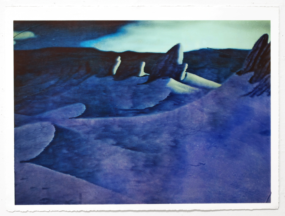 Desert, 2012 Acrylic and inkjet on paper 22 x 30 inches