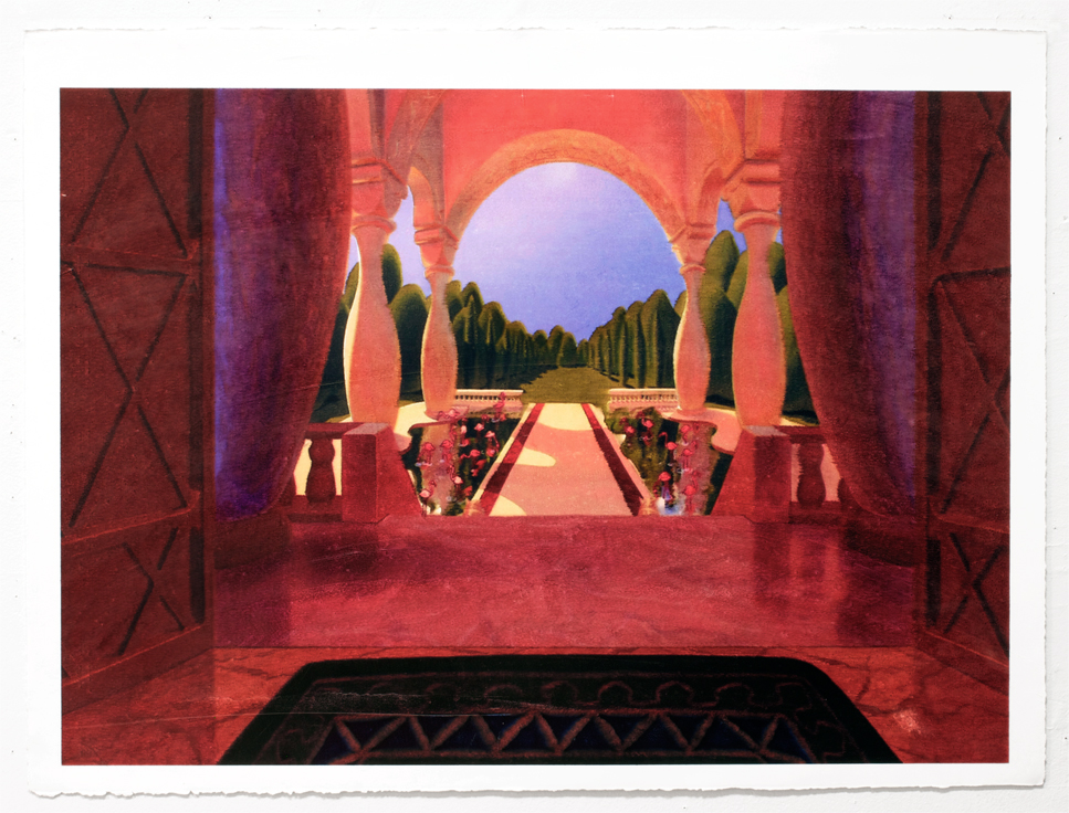 Palace, 2012 Acrylic and inkjet on paper 22 x 30 inches