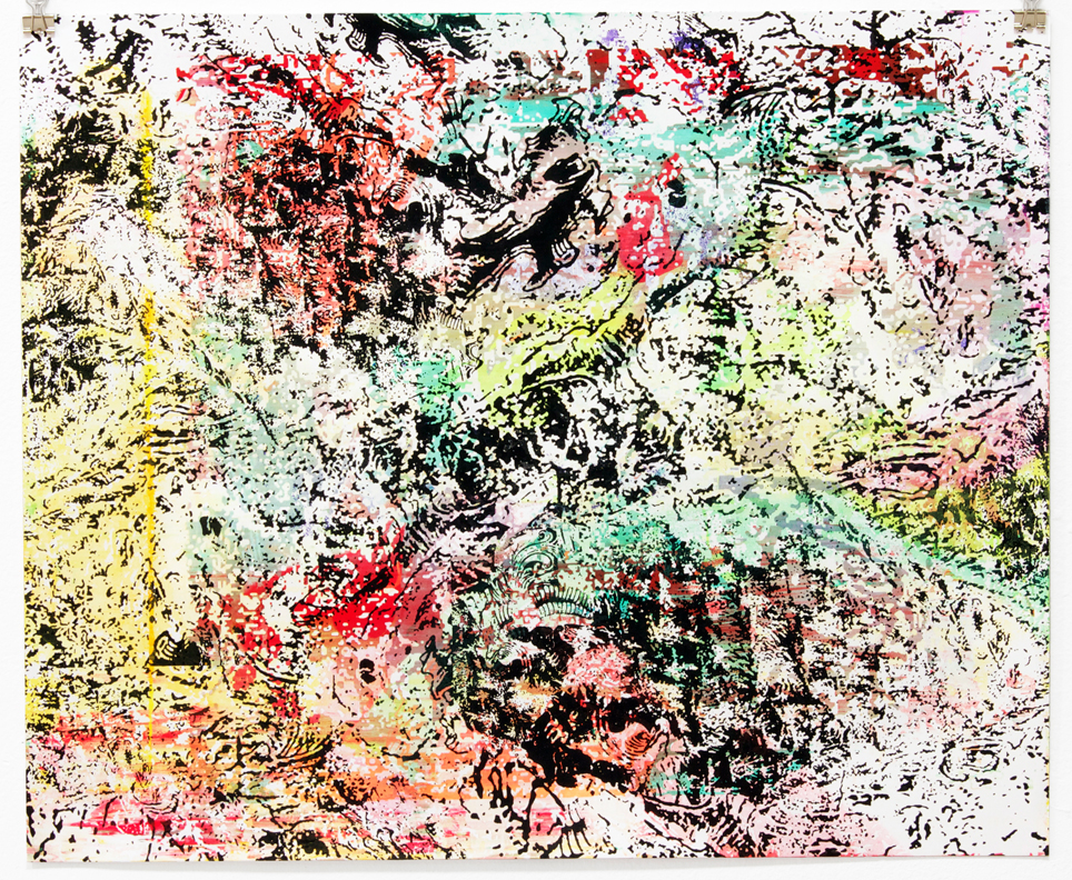 Untitled, 2012 Mono print Screenprint on paper 16 x 20 inches