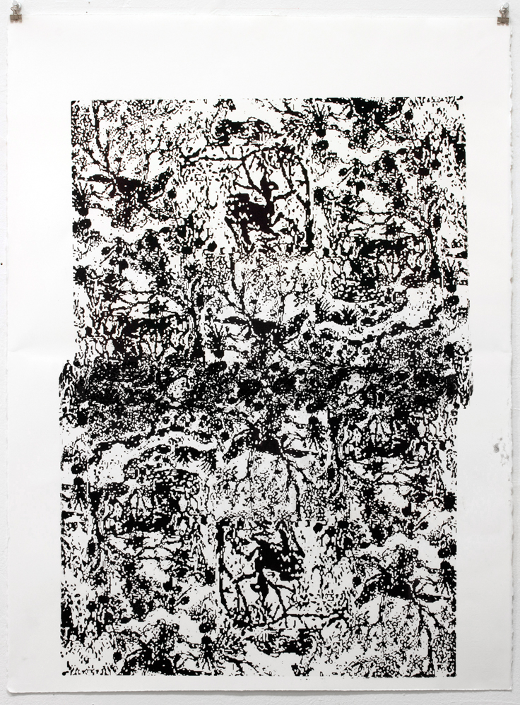 Untitled, 2012 1 Color Screenprint on paper 22 x 30 inches