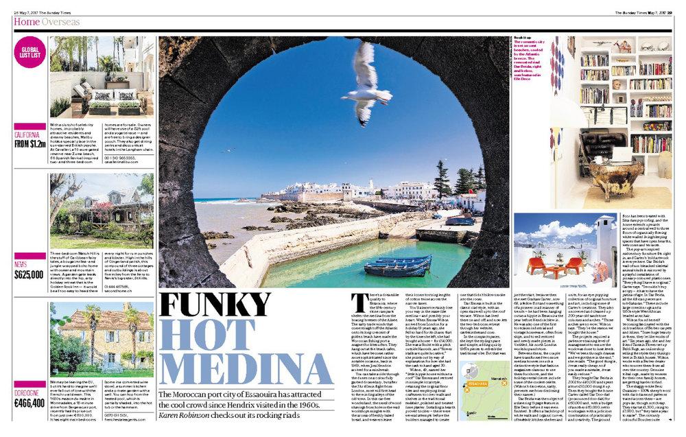 Sunday Times Home – Funky Hot Medina Essaouira (7 May 2017)
