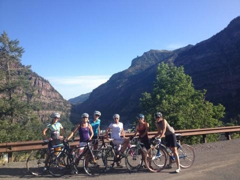start of the climb out of Ouray