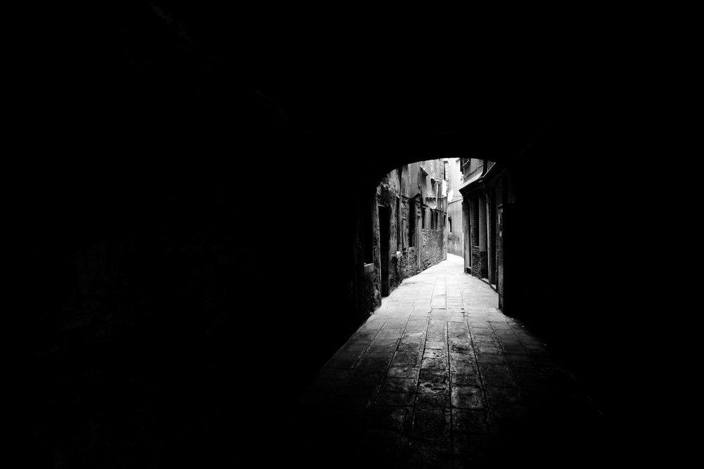 "Venetian Alleyway  12""x16"" - Metallic Black & White C-Print - $300 - 25 Editions"